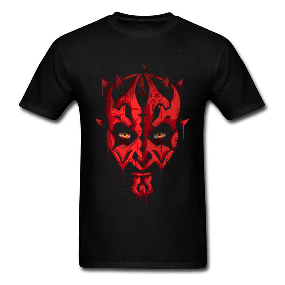 Darth Maul Emerges Summer 100% Cotton Round Neck Tees Short Sleeve Design Clothing Shirt Rife Unique Top T-shirts Darth Maul Emerges black