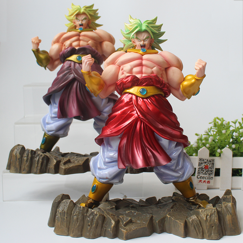 2 color Dragon Ball Z Broly Figurine The Legendary Super Saiyan PVC Collection Model Figure 25cm<br>