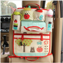 Car Seat Back Storage Bag Hanging Organizer Storage Multi Pocket Hold Bag Portable Grocery Bags Mummy Bag
