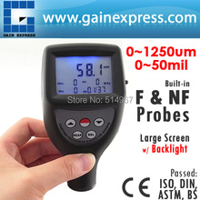 Paint Coating Thickness Gauge Meter Built-in F, Ferrous / NF, Non-Ferrous Probes 0-1250um / 0-50 mil Range