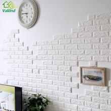 PE Foam 3D Wall Stickers 60x60cm DIY Wall Decor Brick For Living Room Kids Bedroom Decorative Sticker Home Decor(China)