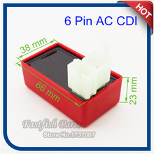 Square Plug 6 Pin AC CDI Box Red For 150cc 200cc 250cc Taotao Kazuma ATV Go Kart Motorcycle Motocross