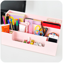 Multifunctional Desktop Storage Rack Shelf Home & Office Desk Sort Management Plastic Storage Shelving Organization