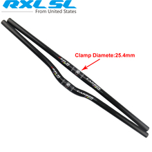 RXL SL MTB Bike Handlebar Carbon Bicycle handle Riser/Flat Handlebars 25.4*540/560/580/600/620/640/660/680/700 MTB Handlebar(China)