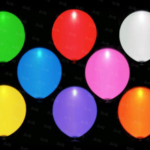 5pcs/pack Multicolor LED Balloons 12 Inches Latex Multicolor Lights Helium Balloons Christmas Wedding Birthday Party Supplies 5D