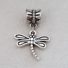 1PC Dragonfly Hanging Pendants Silver Plated Dangle Charms beads Fit Pandora Charm berloque Bracelet