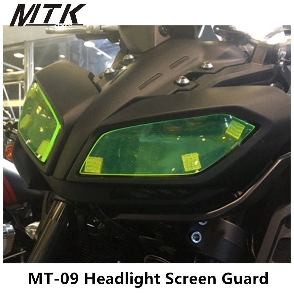 MTKRACING MT-09 Motorbikes Accessoris Acrylic Headlight Protector Cover Screen Lens  For Yamaha MT-09 2017 <br>