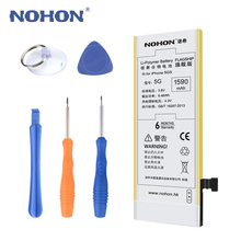 Original NOHON Battery For Apple iPhone 5 High Capacity 1590mAh Free Repair Machine Tools With Retail Package(China)