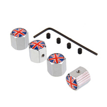 4pcs/lot Car Auto Wheel Tire Tyre Valve Cap Cover Anti-theft Steal Air Dust Covers for UK France Russia Italy Germany Flag(China)