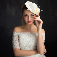 Women Chic Bridal Fascinator Hat Cocktail Wedding Party Church Girl Cute Headpiece Fashion Headwear Lady Formal Hair Accessories(China)