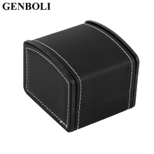 GENBOLI Luxury Gift Boxes PU Leather with Pillow Jewelry Display Organizer Watch Packaging For Bangle Jewelry Box Cases