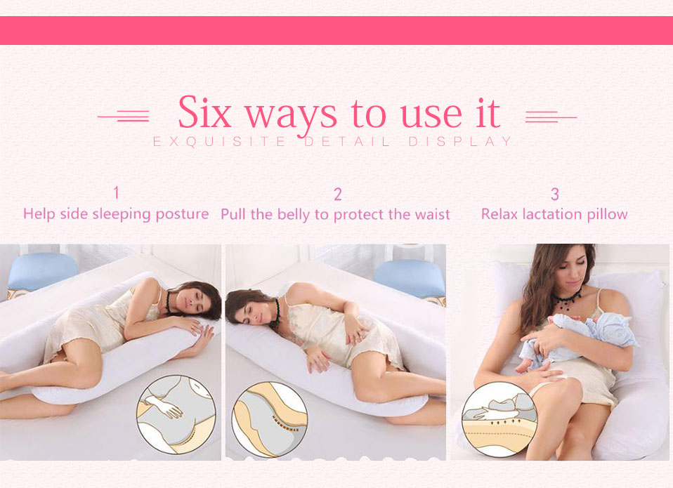 Sleeping Support Pillow For Pregnant Women Body 100% Cotton Pillowcase U Shape Maternity Pillows Pregnancy Side Sleepers Bedding (12)