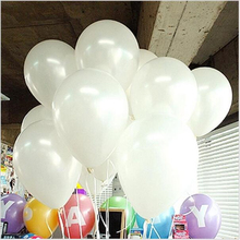 100pcs/lot 10inch White Latex Balloon Air Balls Inflatable Wedding Party Decoration Birthday Kid Party Float Balloons Kids Toys