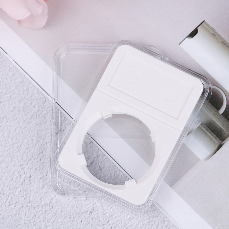 New Delicate White Jewelry Display Case Commemorative Coins Holder Box Storage Box