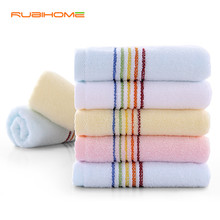 1 piece Rainbow Prind 100% Cotton Face Towel For Adult Woman Man Square 33x72 cm In Bathroom Factory Direct