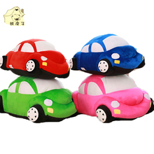 Lovely Car Shape Dog Plush Toys Soft Cotton Stuffed Pet Toys 4 colors Russian Gift Cat Puppy Dog Playing Toys 2017 Hot Sale(China)