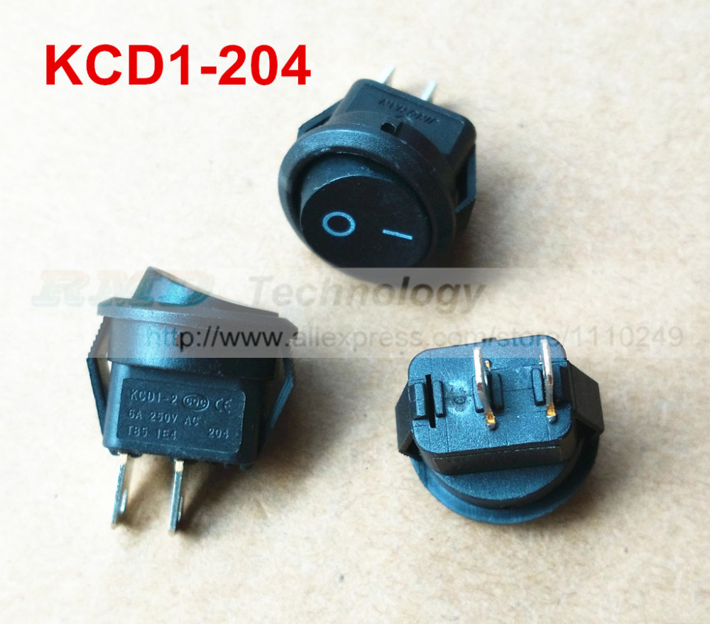 10pcs/lot Delicate Rocker Switch KCD1-204 AC 250V 6A 2 Pin Black Round ON/OFF I/O SPST Snap in Mini Boat,Free shipping<br><br>Aliexpress