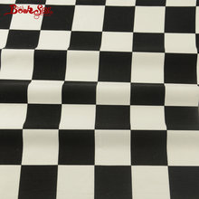 Booksew Black and White Checks 100% Cotton Fabric Twill High Quality Sewing Clothing Baby Textile Dress Tela(China)