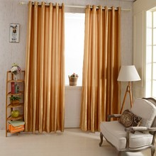 2PCS 1*2.5M Grommet Top Blackout Curtain Linings Panel Solid Bright Colored Window Curtains For Living Room Bedroom Home Decor