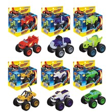 Hot Sale 6pcs/set Blaze Monster Machines Toys Vehicle Car Pickle Zeg Darrington Crusher Stripes Original Box Best Gifts For Kids