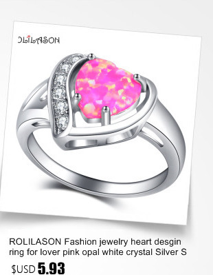 ROLILASON Black Friday Delicate Style Color Fire Opal Silver Stamped Fashion Jewelry Ring for Ladies USA Sz #6#7#8#9#10 OR853