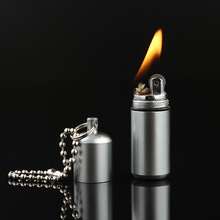 Outdoor Keychain Waterproof Fire Starter Capsule Oil Petrol Gas Lighter Match Fuel Bushcraft Survive Camp Hike Cigarette Cigar