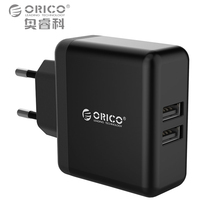 Buy ORICO Dual-port Mobile Phone Charger 5V2.4A 15W USB Travel Charger Portable Smart Wall Adapter EU Plug Black/White for $5.91 in AliExpress store