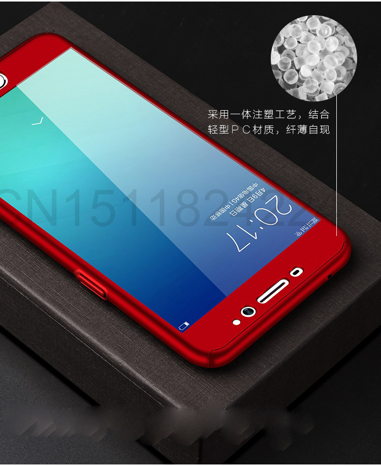360 Full Case For Meizu Pro 7 Cases Hard PC Degree For Meizu  M6 Note M6 M5 Note  M6s Cover + Tempered Glass A8