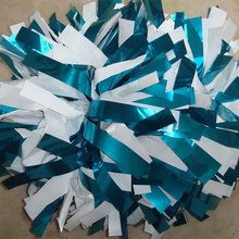 "1Piece  Never Fade Cheerleader Pom poms 6"" 180g Baton Handle Metallic mixed Plastic Competion Poms Custom Color High Quality"