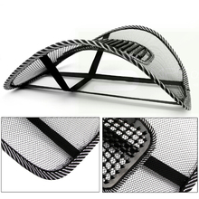 Car Seat Black Lumbar Support Mesh Ventilate Cushion Pad Chair Back Massage Mat for Office Car seat home and truck chairs