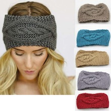 Ladies Womens Girls Knitted Eye Headband crochet Hair Band Ski Hat Earmuffs Winter Warm(China)