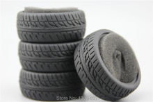 4pcs RC Model Car 1/10 Scale Soft Rubber Tires Tyre(Triangle) fits for 1:10 Touring Car 1/10 Tire 21007(China)