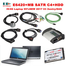 For Mercedes Benz obd2 Car diagnostic tool MB STAR C4+I5/4G Laptop E6420 with 2017 09 Xentry/DAS software HDD OBD 2 Scanner DHL(China)