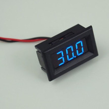 Digital Voltmeter Two Wires LED Display Blue DC2.5-30V Digital Panel Voltage Meter Voltage Detector Monitor(China)