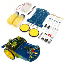 Hot New DIY Smart Tracking Robot Car Electronic Kit With Reduction Motor Set(China)