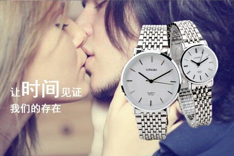 Top Fashion Brand Longbo Luxury Women Man Lovers Full Stainless Steel Men Watch Quartz Business Watches montre femme de marque<br><br>Aliexpress