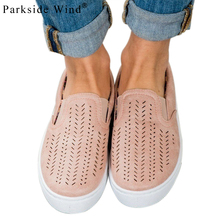 Parkside Wind Round Canvas Large Size Shoes Fashion Comfortable Flat Women Shoes Size 35-42 Summer Causal Ladies' Shoes 0118-5(China)
