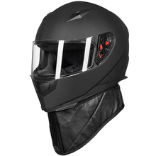 New ILM DOT Full Face Motorcycle Helmet + 2 Visors + Neck Scarf 7 Color Fashion Quick Release Helmet Matte Black Red M L XL(China)