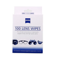 ZEISS Pre-moistened Lens Screen Wipes for Tablet Screens Camcorder Lenses DVDs Paperback Book Covers Laptop Cleaner Wipes 100pcs