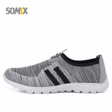 Somix Lightweight Mesh (Air mesh) Men's Sport Shoes Breathable Jogging Barefoot Running Shoes for Men and Women Outdoor Sneakers