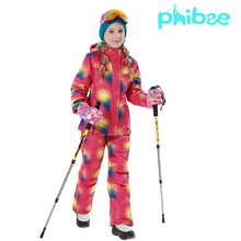 kids winter ski sets(jacket+pant) Baby Girl's outdoor sport warm ski snow clothing 2016 Children waterproof windproof ski suit