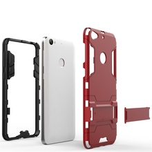 "Hard Shell Back Cover For LeTV LeEco Le 1S LeTV One S X500 Octa Core 5.5"" Hybrid Armor Bracket Kickstand Case 2 In 1 Silicone"