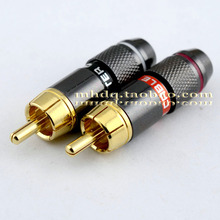 10pcs MONSTER CRBLE 24K Gold Plated RCA Plug / Audio Connector / Lotus Plug / AV Video Terminal