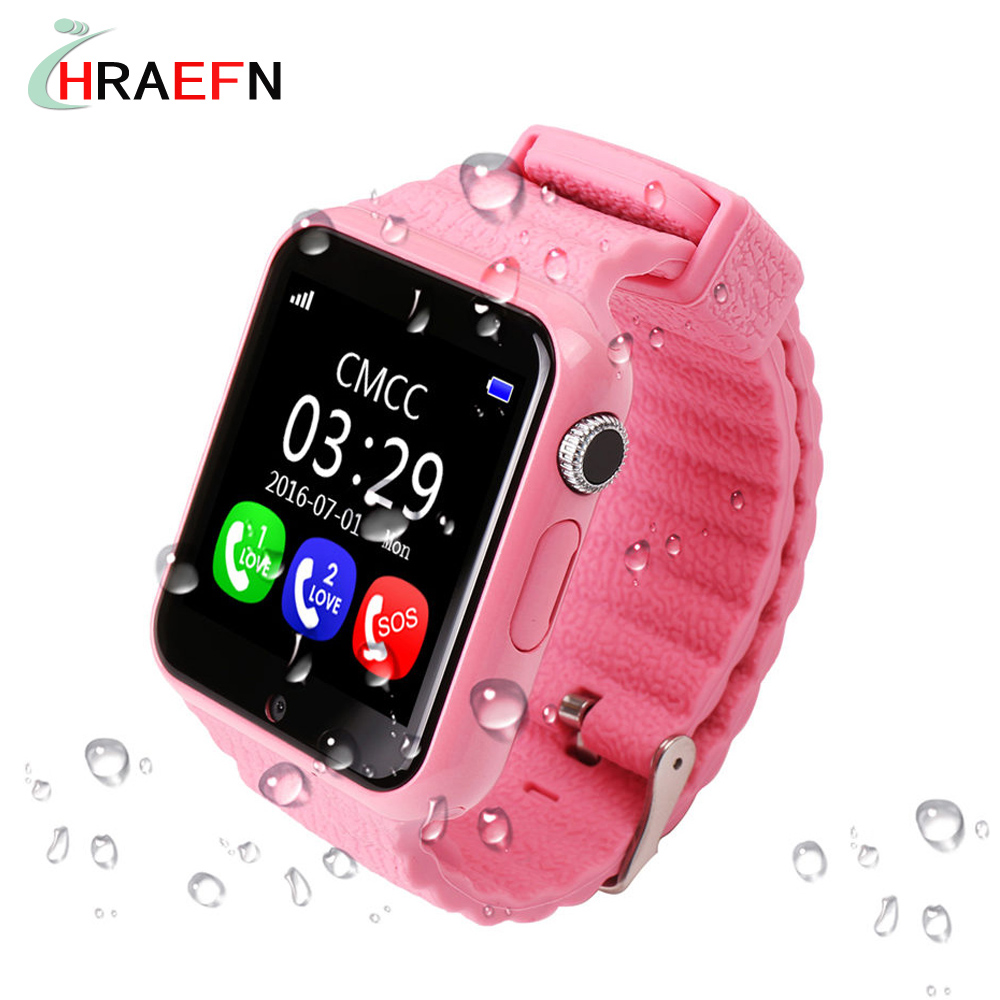 V7K Waterproof Kids GPS smart watch children Safe Anti-Lost Monitor Smartwatch with camera facebook whatsapp SOS PK Q50 Q60 Q90<br>