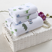 Novelty Cartoon Elephant 3 PCS Hotel Travel Beach Bath Towel Set For Kids Bathroom Gift Cheap Bath Sheets Shower Towels Sets(China)