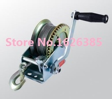 2500lb--3000lbx10M Boat windlass truck auto manual winch with wire rope and hook, hand puller tire repair tool(China)
