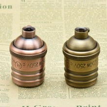 E26E27 Vintage Edison Screw Bulb Base Lamp Holder Copper Brass Lamp Socket 250V UL Top Quality Pendant light Lamp Bases 2PCS/Lot