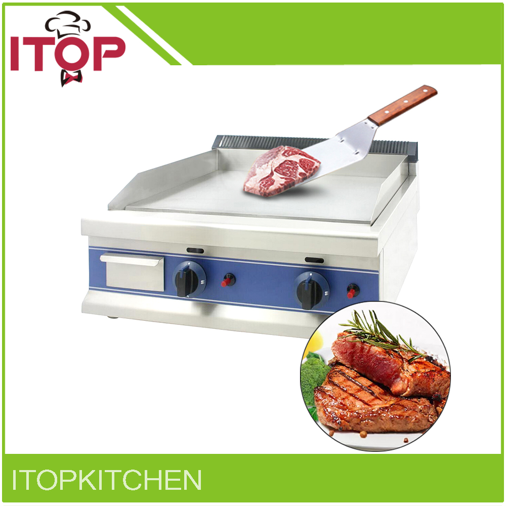 ITOP Gas BBQ Grill Commercial Griddle All Flat 12mm Plate Multifunctional Pan Suitable for Restaurant Canteen(China)