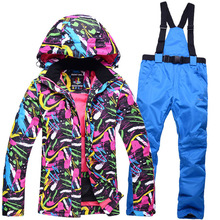 2017 Skiing team snow jackets women Wind-blown Breath camping women skiing team snowboarding riding camping jackets and pants(China)