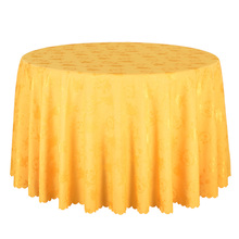 1PCS Polyester Damask Gold Tablecloth Hotel Wedding Party Round Table Cover Decor Dining Table Cloths Square Solid Table Linen